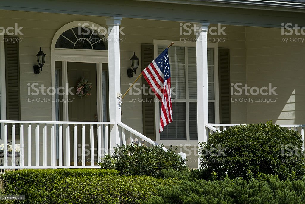 American porch flag stock photo