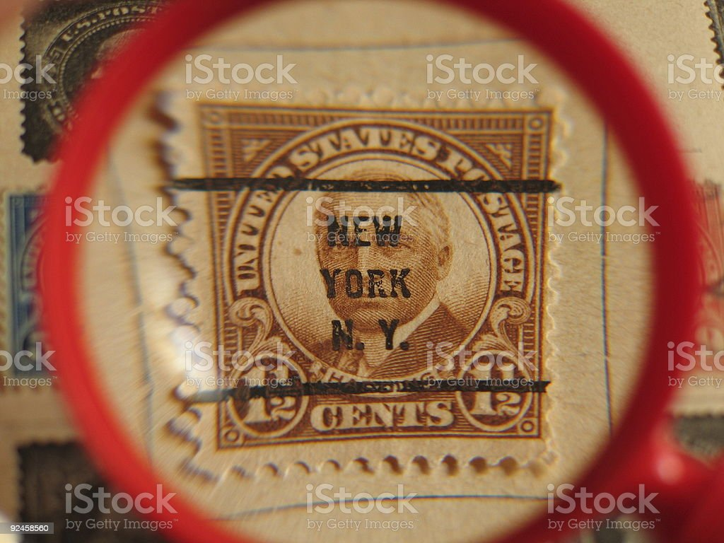 American post stamp  - New York royalty-free stock photo