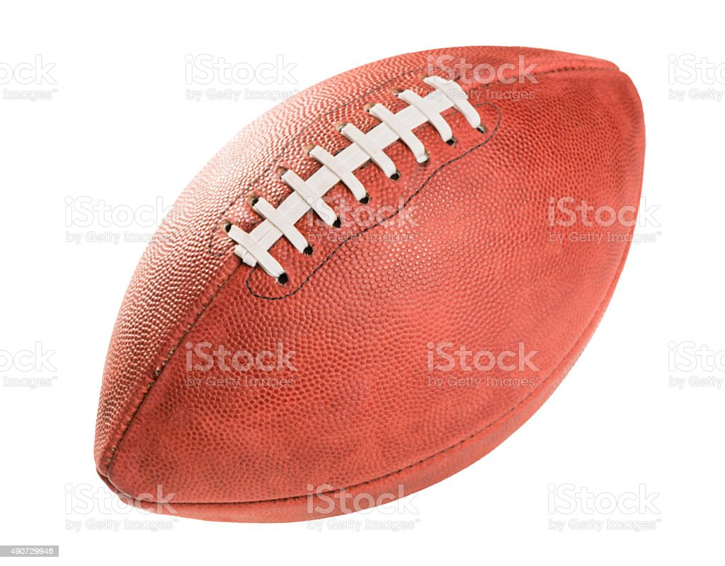 American Pro Football on White stock photo