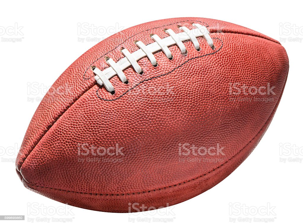 American Professional NFL Football on White stock photo