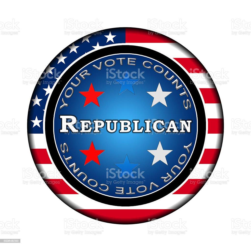 American Republican Icon stock photo