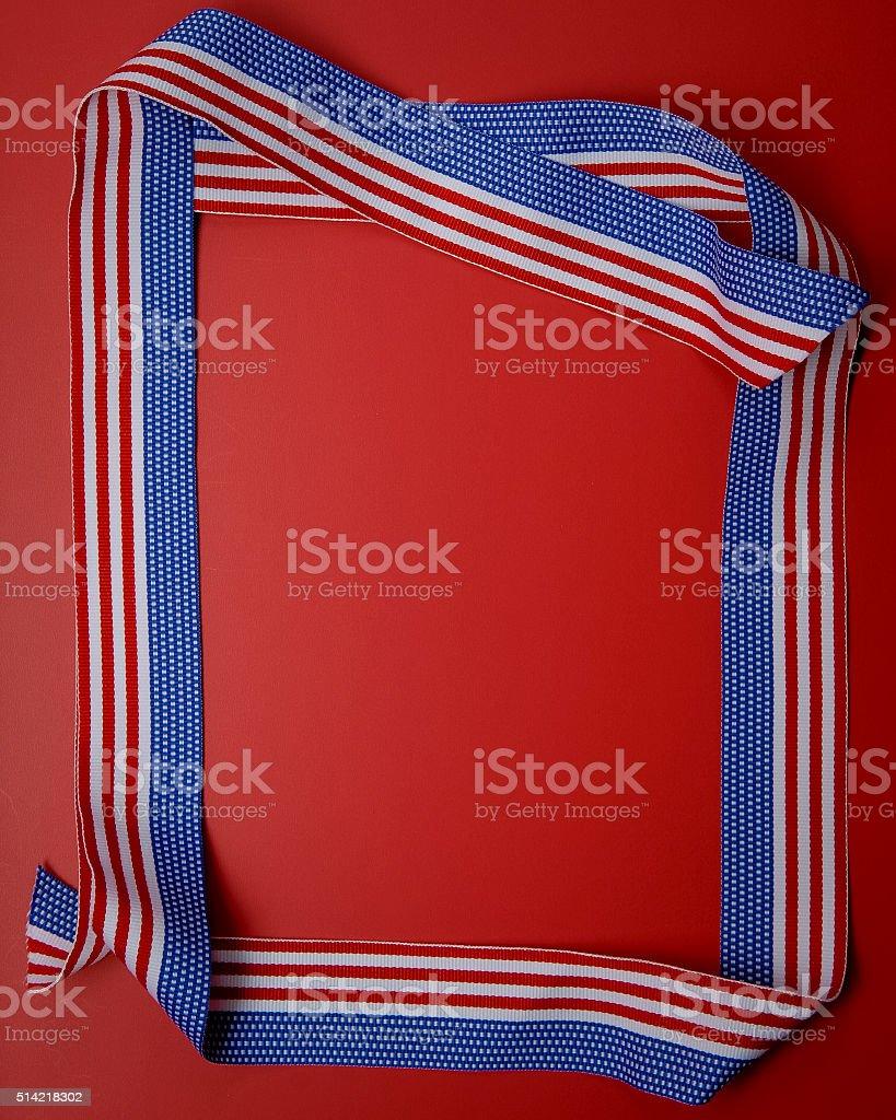 American Ribbon Frame stock photo