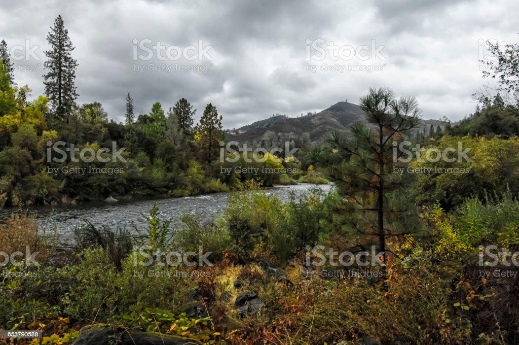 American River - Coloma - California stock photo