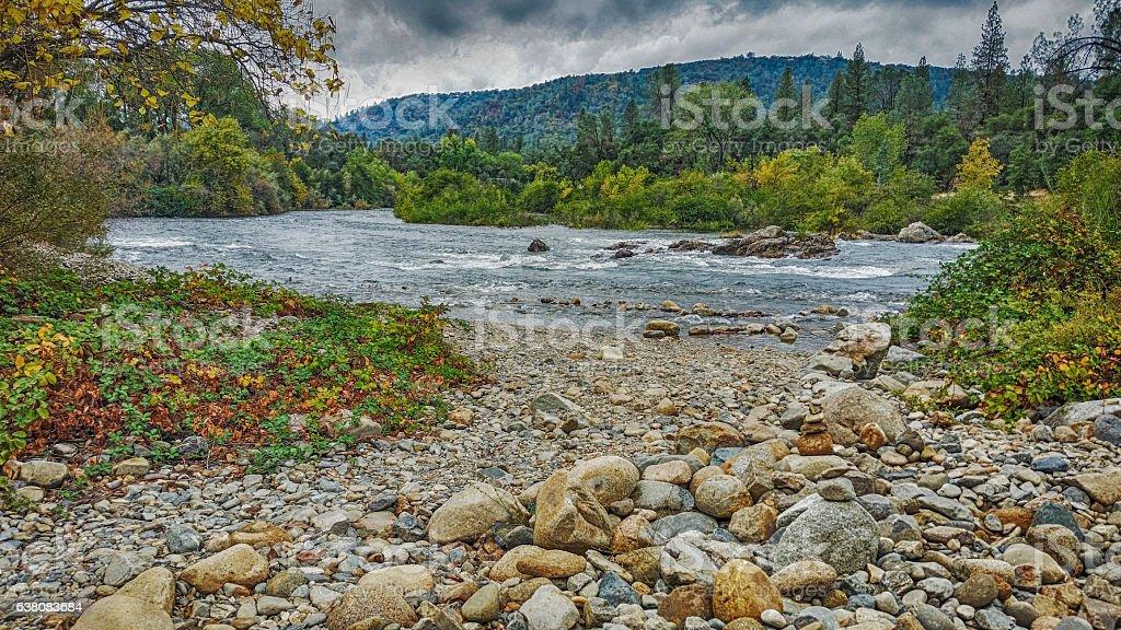 American River - Coloma stock photo