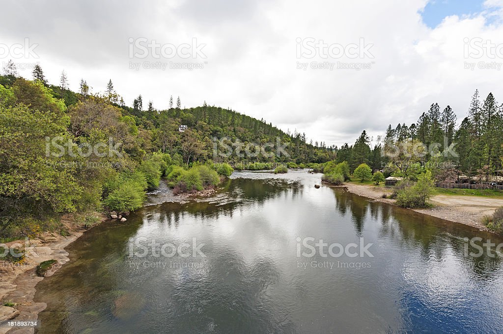 American River from Above royalty-free stock photo