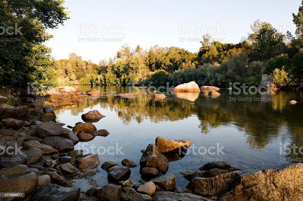American River Morning stock photo