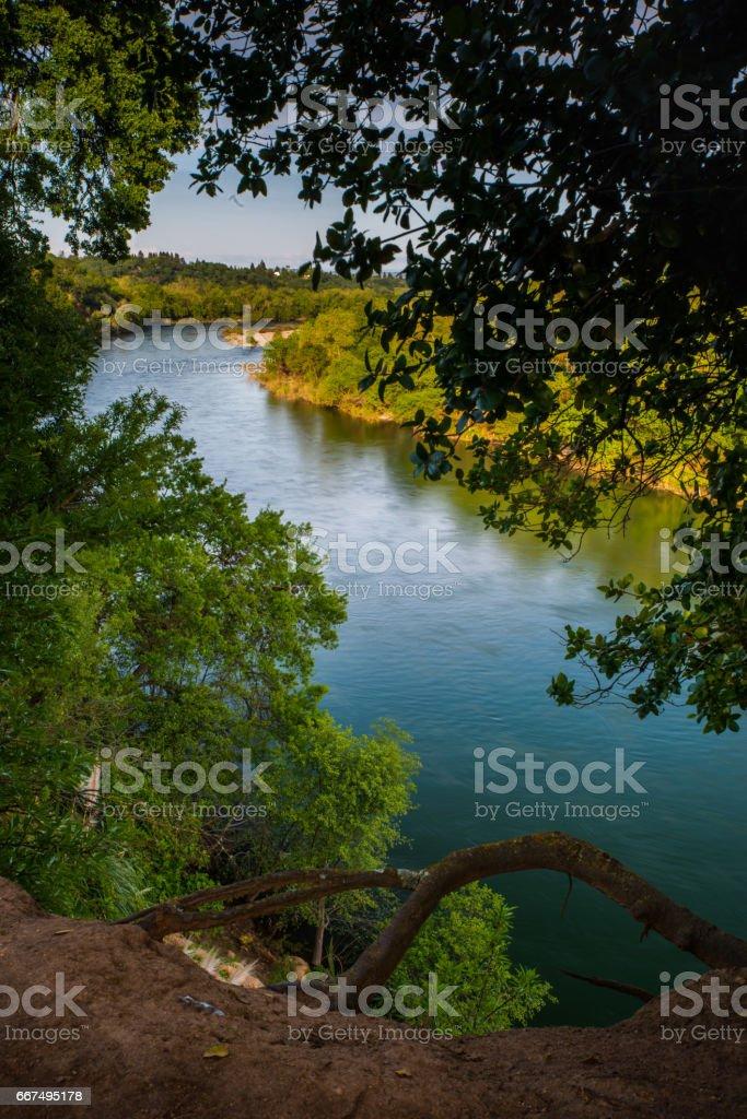 American River stock photo