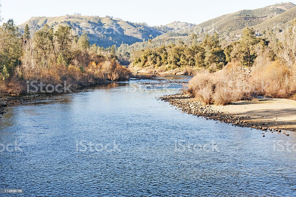 American River Views royalty-free stock photo