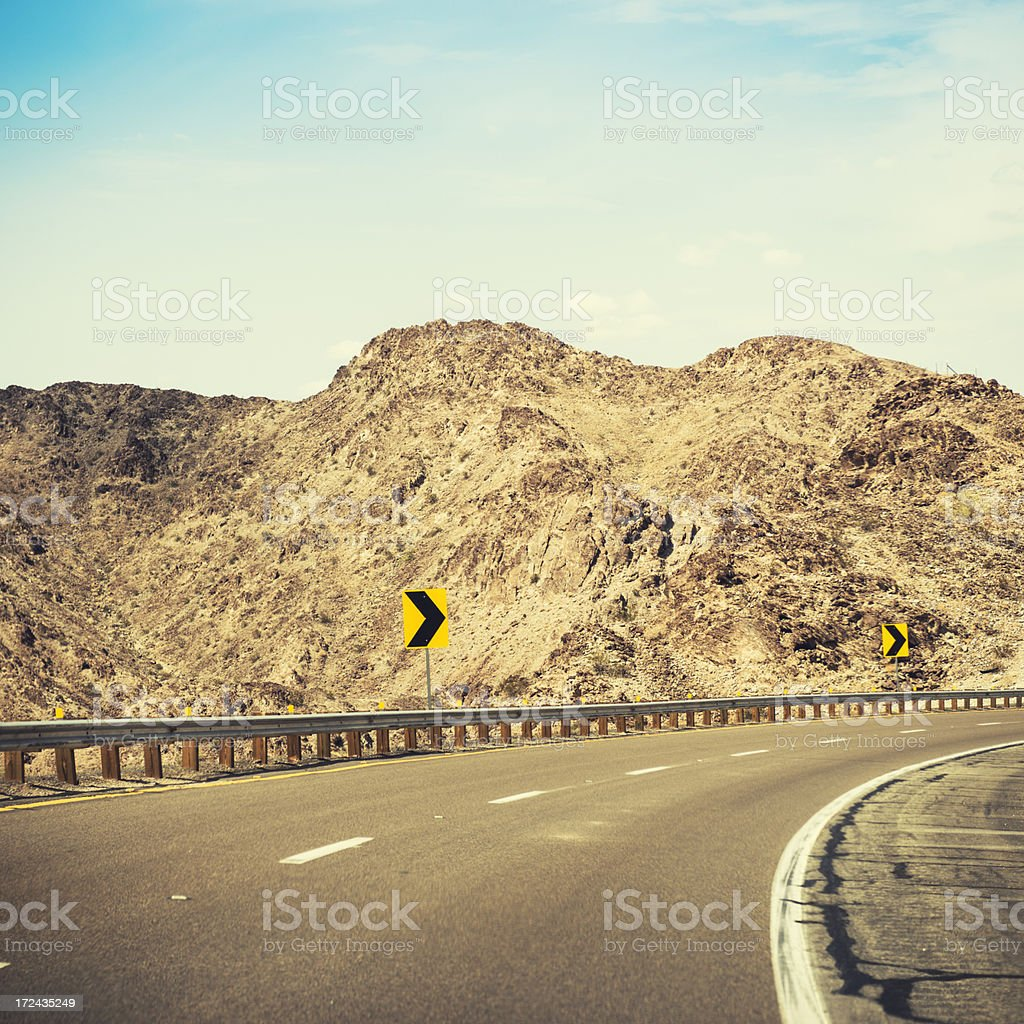 American road on arizona state - USA royalty-free stock photo