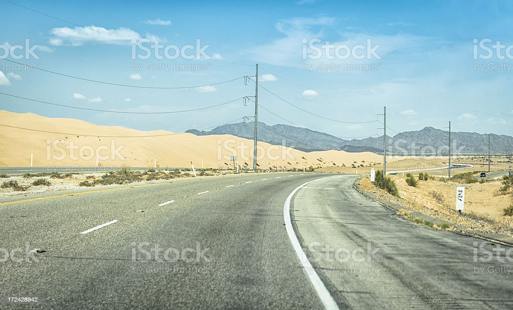 American road on route 66 - USA royalty-free stock photo