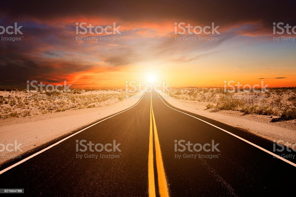 American road stock photo