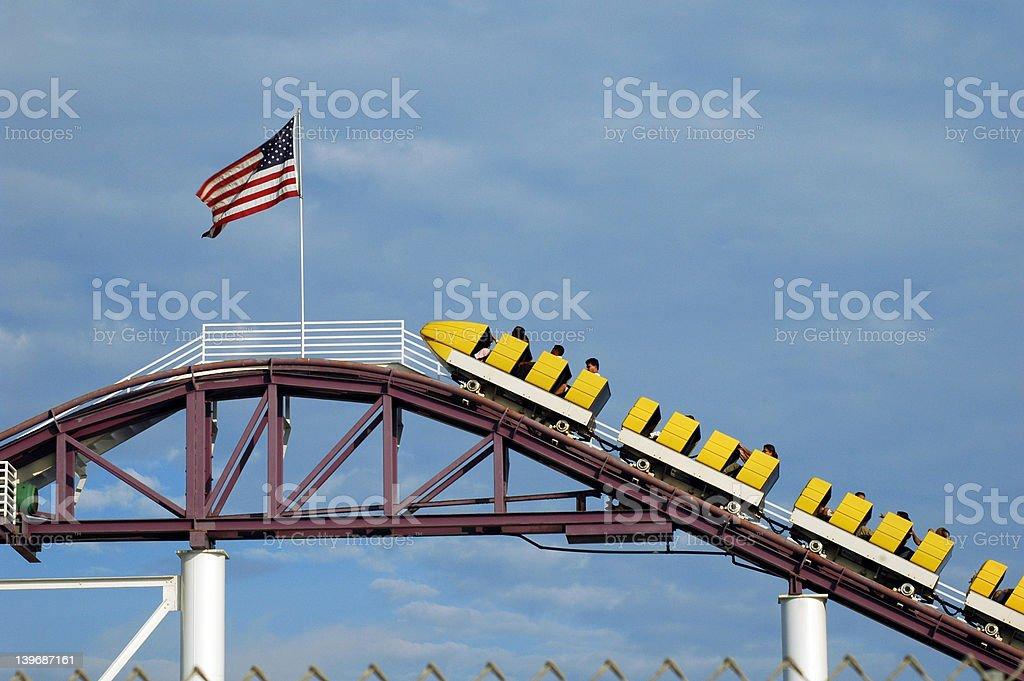 American Roller Coaster 1 stock photo