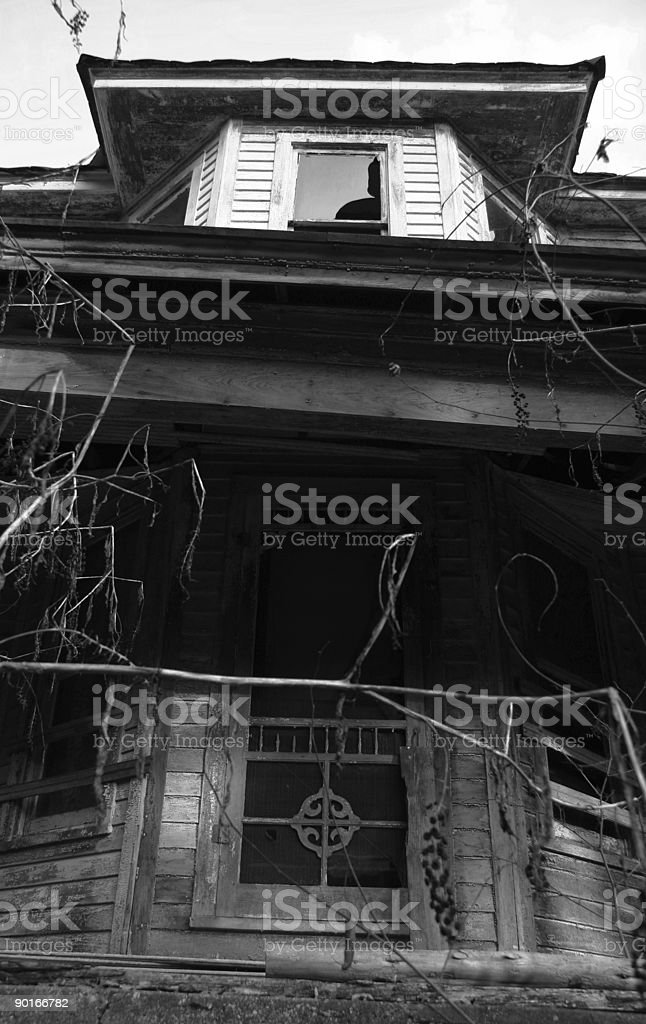 American Ruins 02 BW stock photo