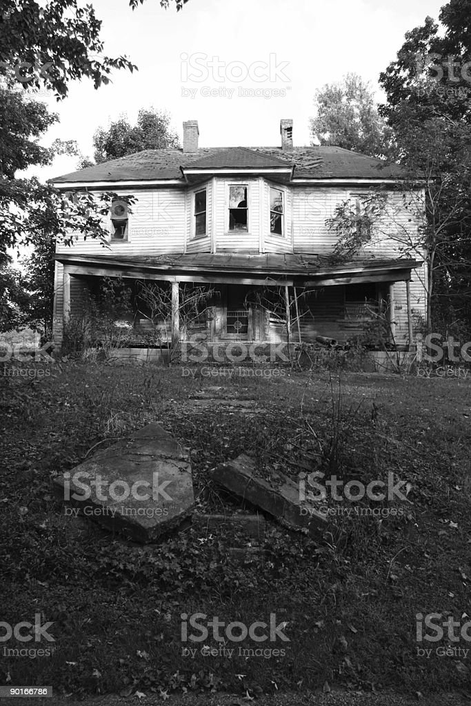 American Ruins 03 BW stock photo