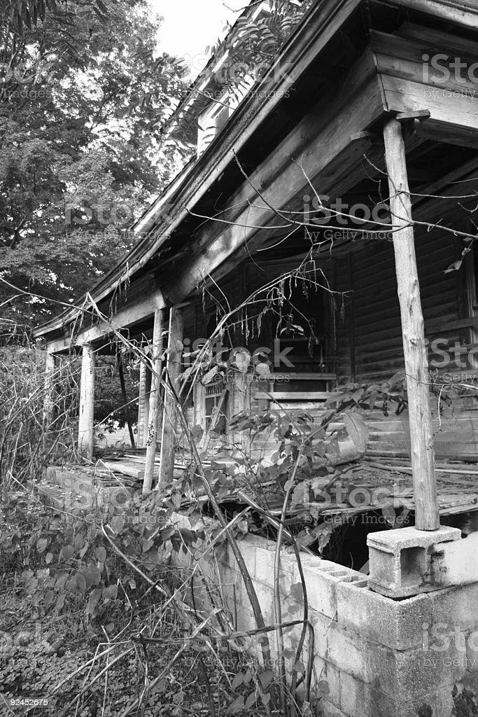 American Ruins 04 BW stock photo