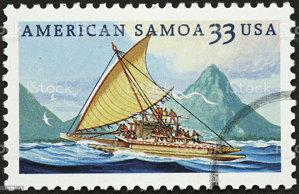 American Samoa sailboat stock photo