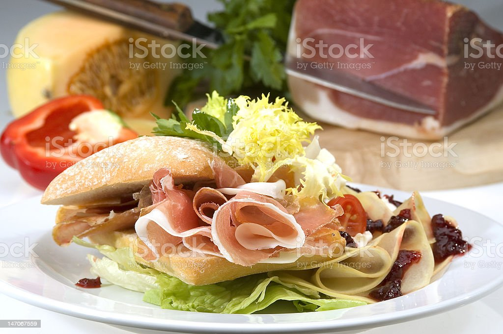 American sandwich royalty-free stock photo