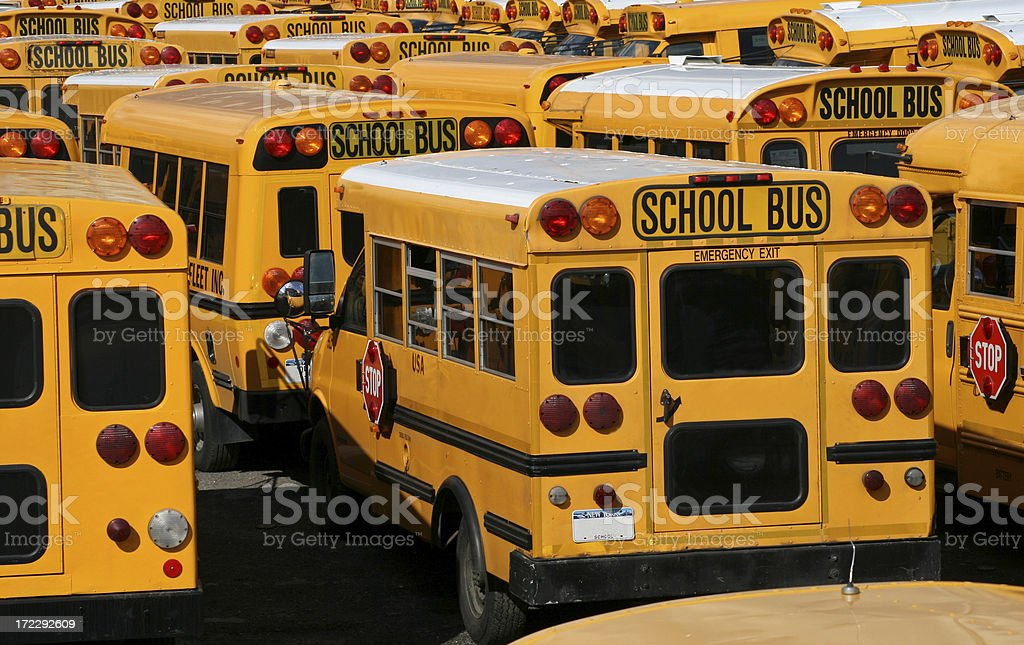 American School Bus royalty-free stock photo
