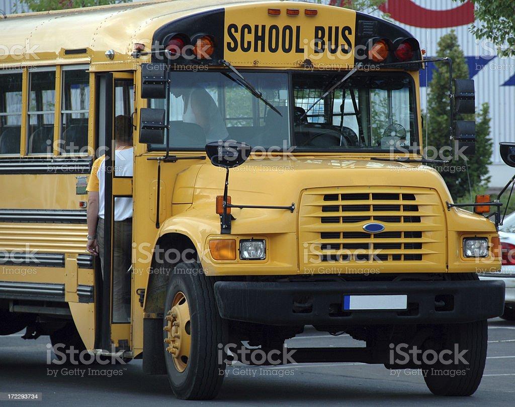 American school bus royalty-free stock photo