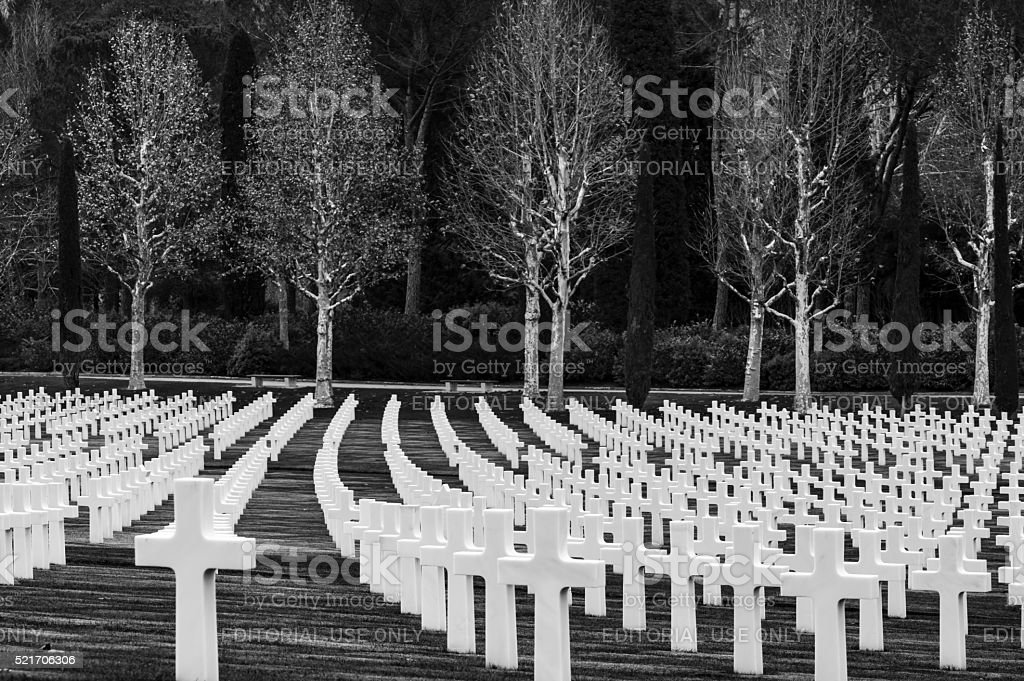 American Second World War Cemetery stock photo