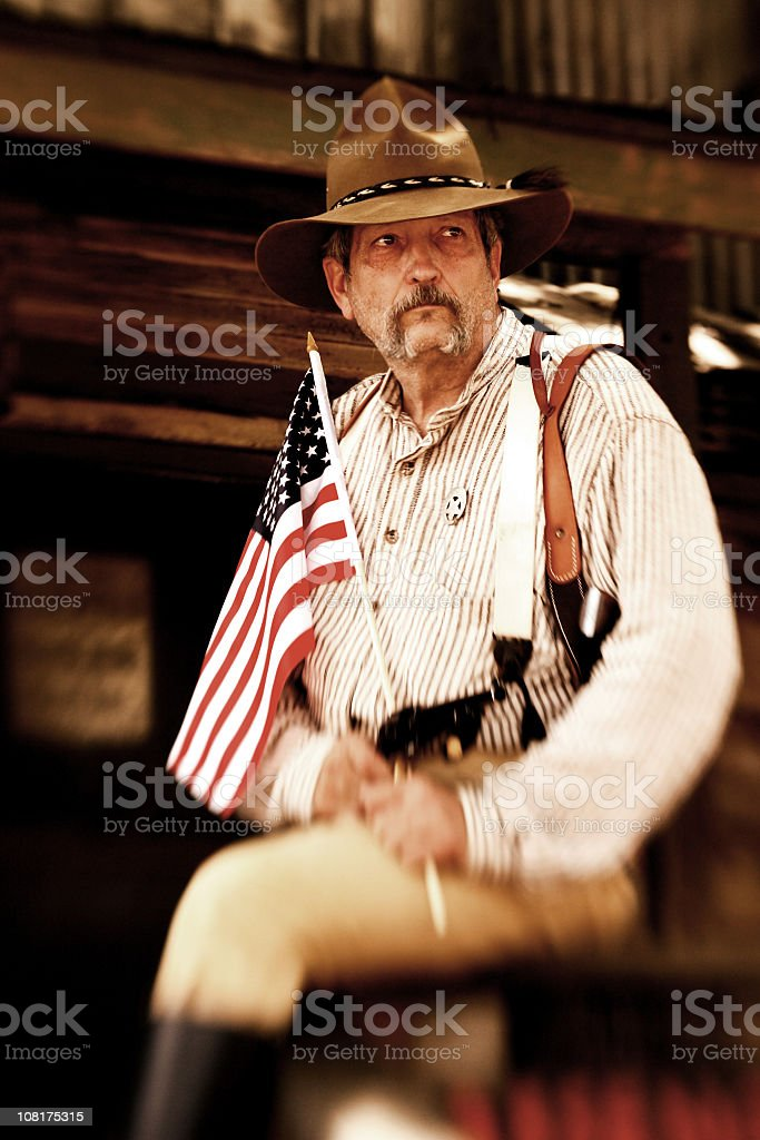 American Sheriff stock photo