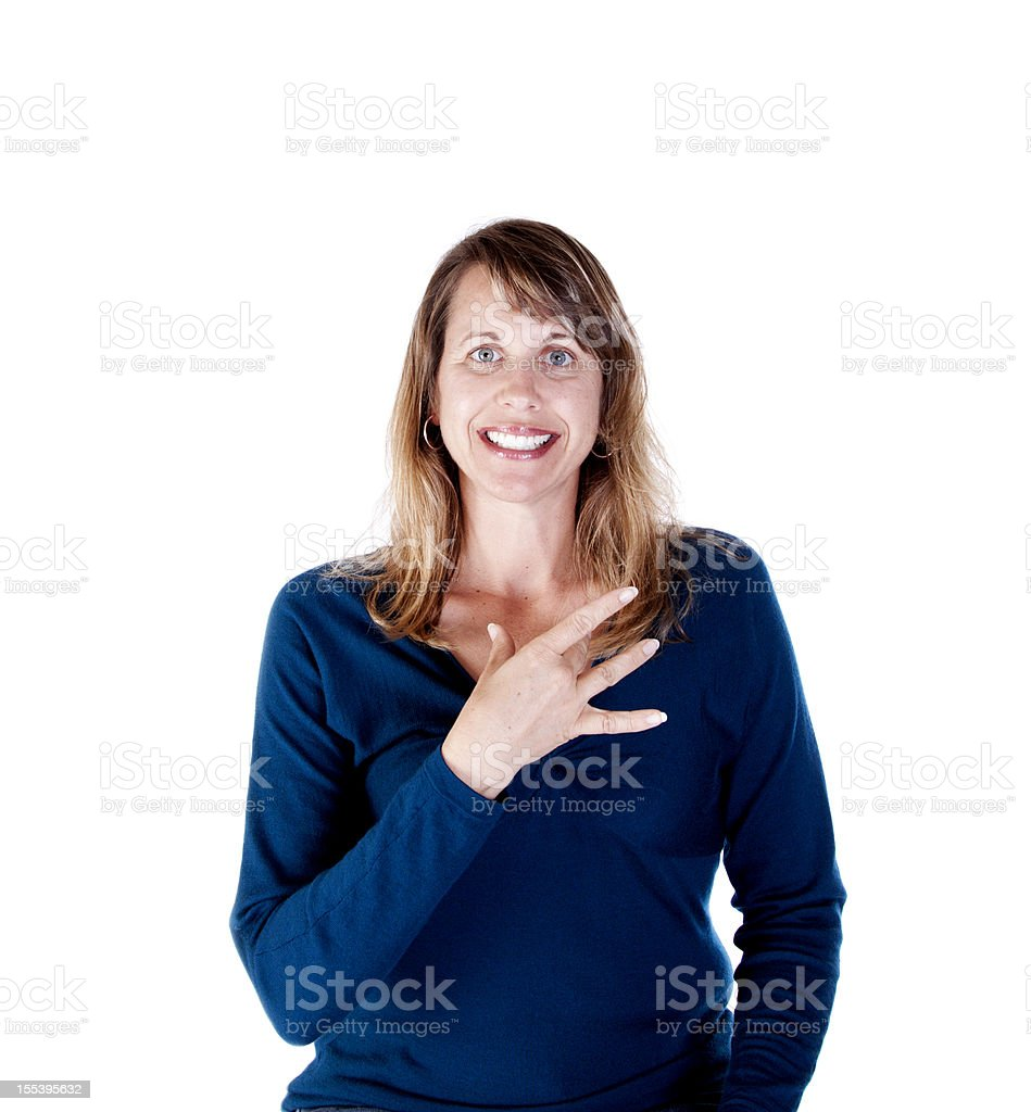 American Sign Language for LIKE royalty-free stock photo