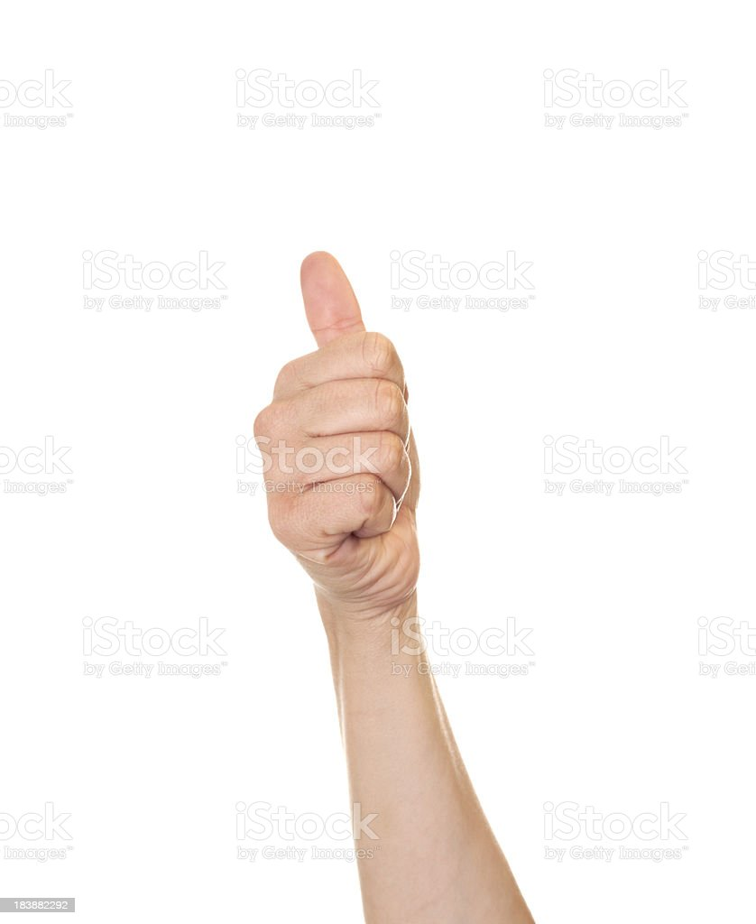 American Sign Language Number Ten stock photo