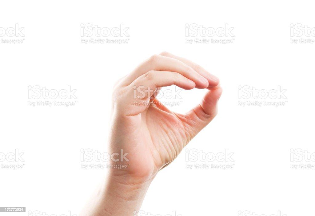 American Sign Language - Zero stock photo