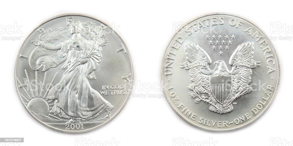 American Silver Eagle Coin stock photo