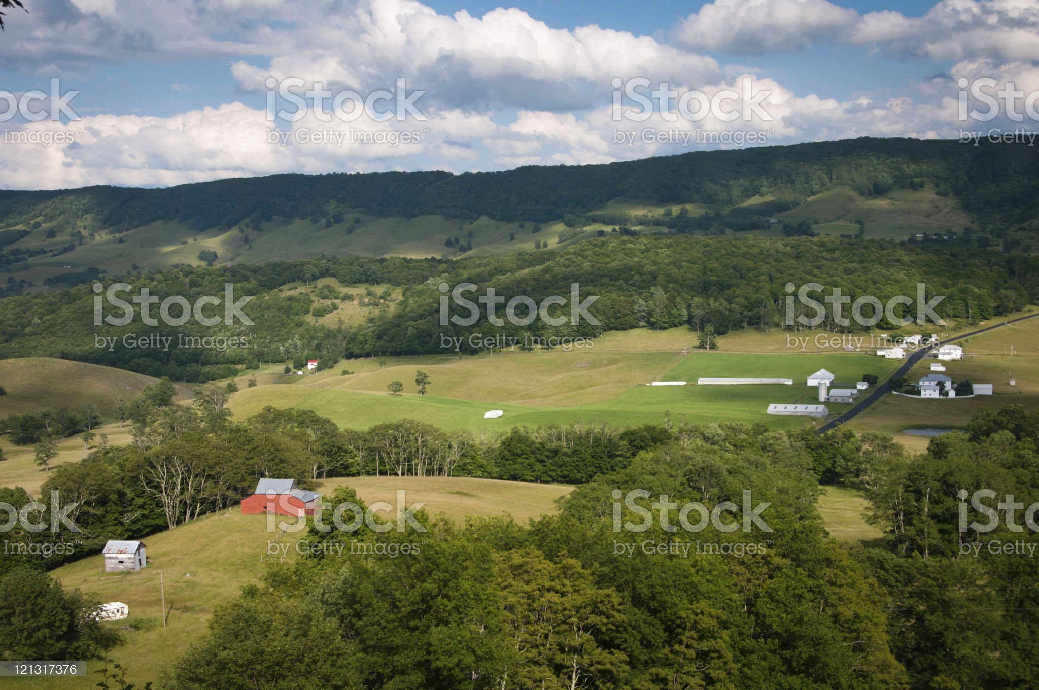 American Small Town in Apalachia royalty-free stock photo