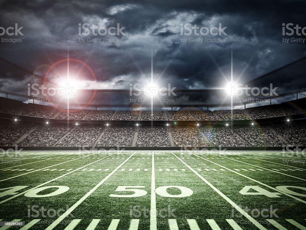 American soccer stadium stock photo