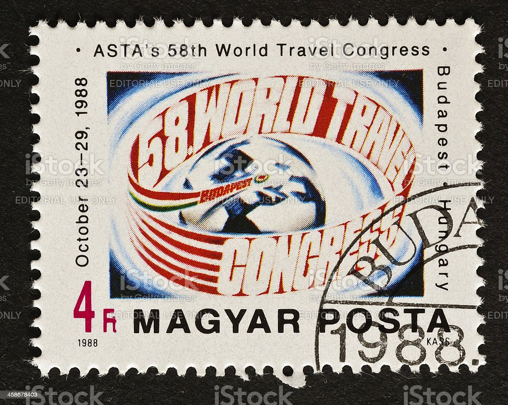 American Society of Travel Agents Stamp stock photo