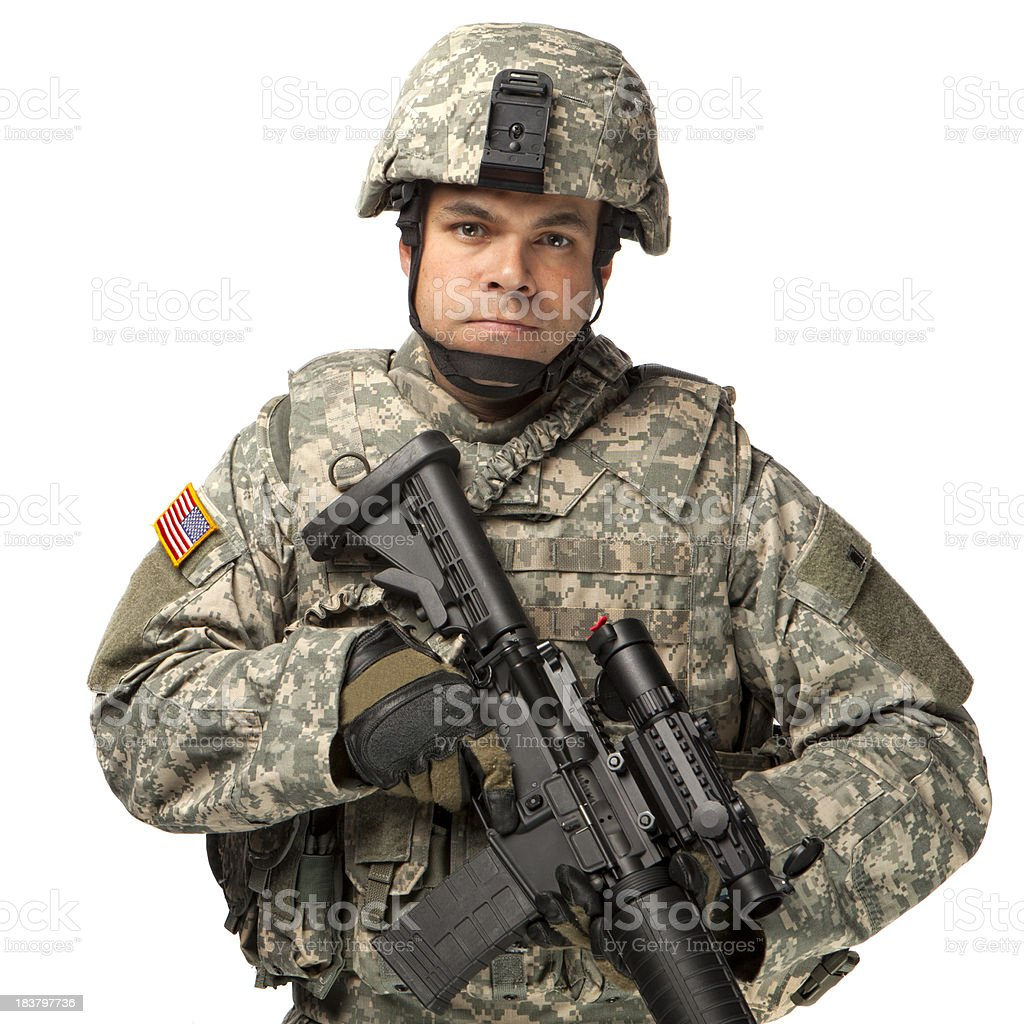 American Soldier in a relaxed pose royalty-free stock photo