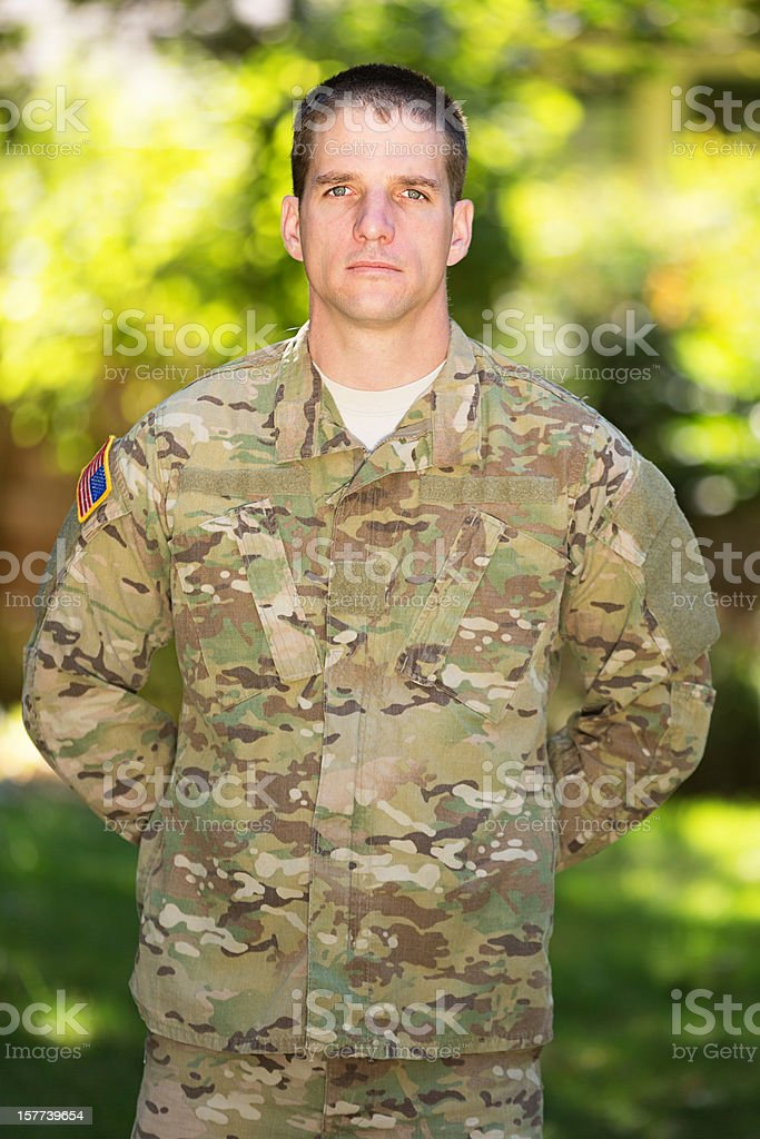 American Soldier in Uniform royalty-free stock photo