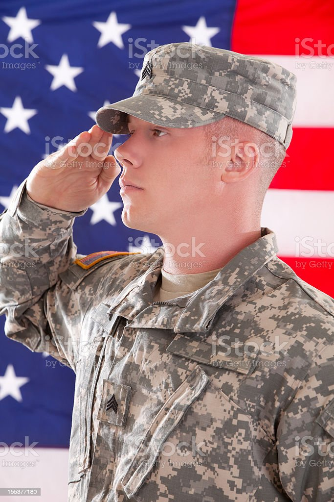 American Soldier Series royalty-free stock photo