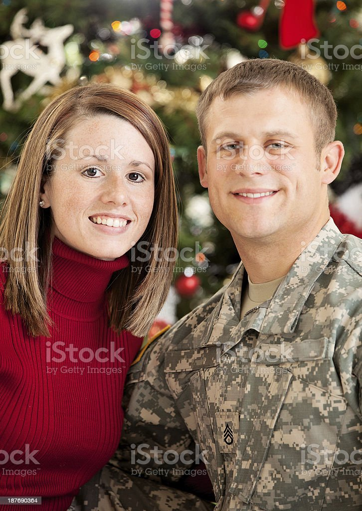 American Soldier & Wife royalty-free stock photo