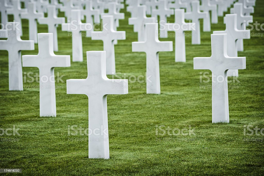 American soldiers cemetery in Normandy, France royalty-free stock photo