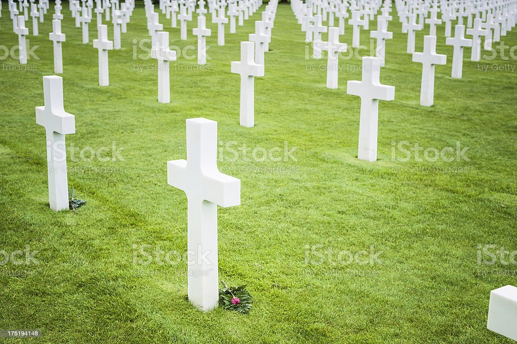 American soldiers cemetery in Normandy, France stock photo