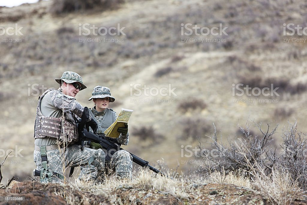 American Soldiers royalty-free stock photo