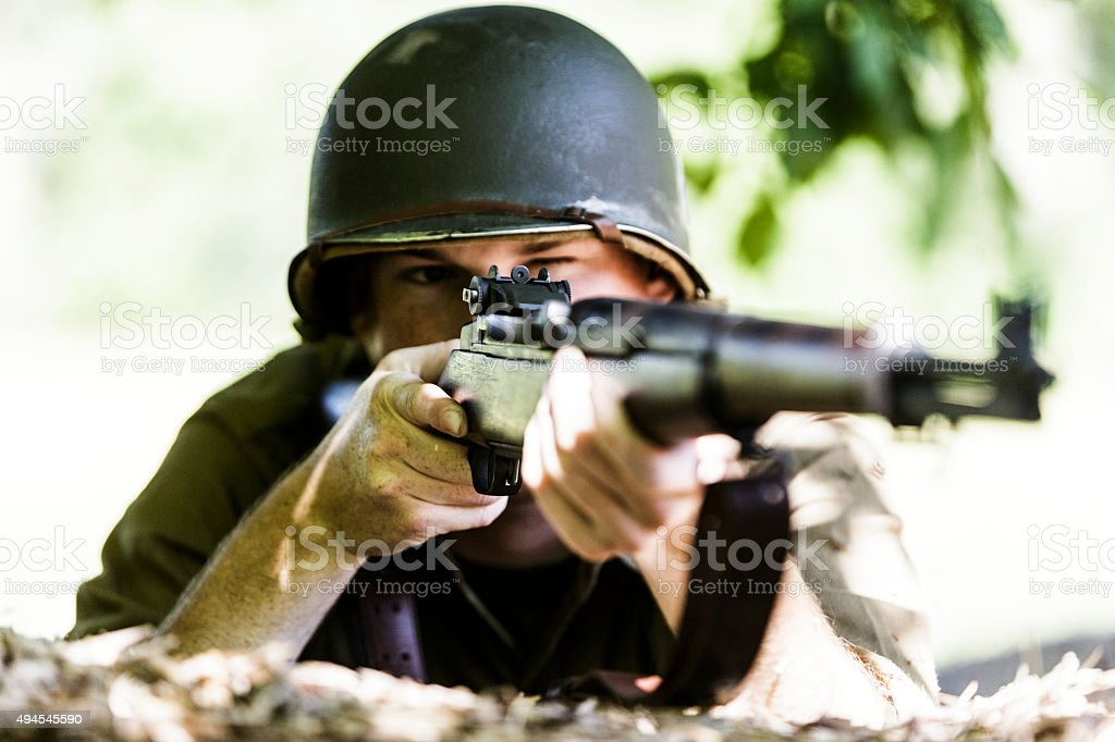 American Solider stock photo