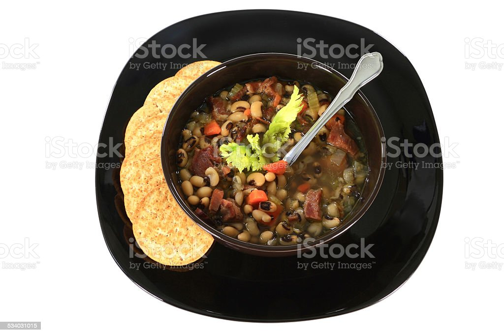 American South Tradition New Years Day soup stock photo