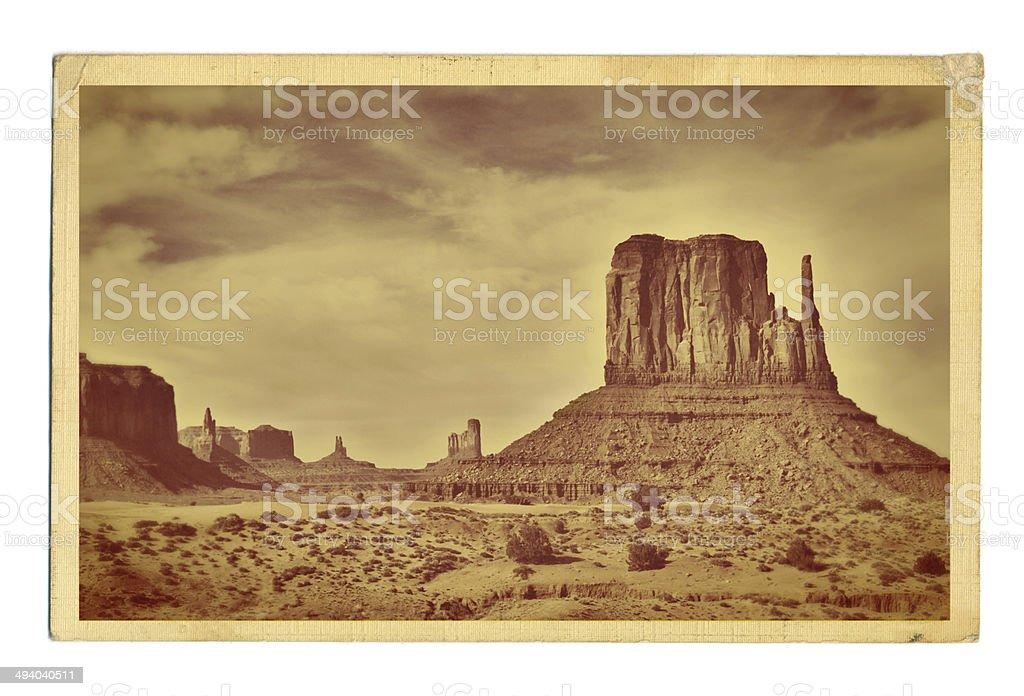 American Southwest Landscape Retro Postcard royalty-free stock photo