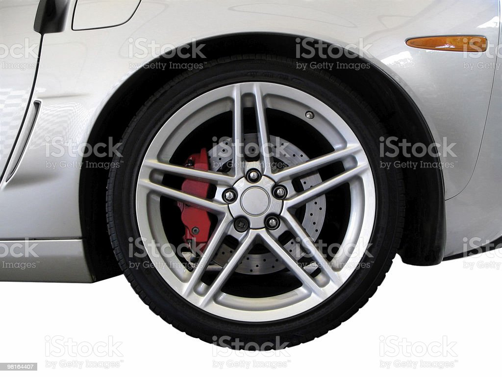 American Sports Car - Clipping path stock photo