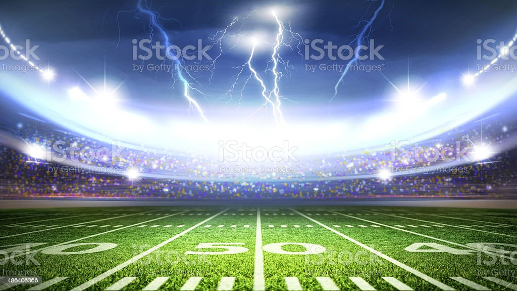 american stadium stock photo