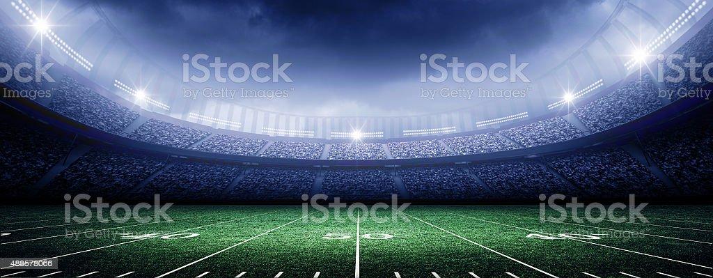 american stadium stock photo