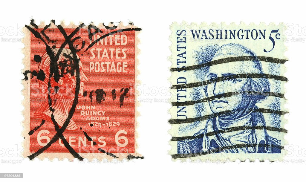 American stamps stock photo