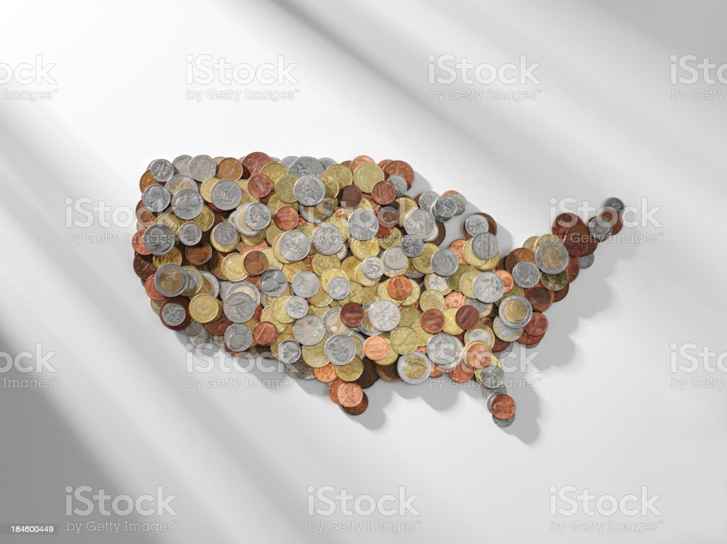 American States on Paper royalty-free stock photo