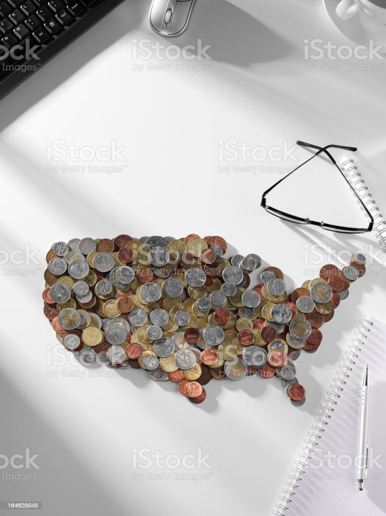American States with Copy Space royalty-free stock photo