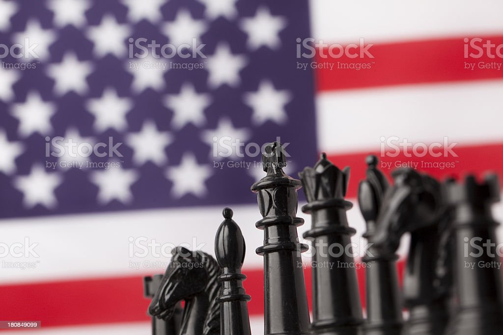 American strategy concept royalty-free stock photo