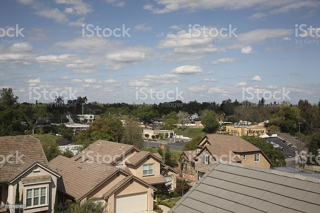American Suburb royalty-free stock photo